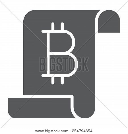 Distributed ledger glyph icon, finance and money, digital ledger sign, vector graphics, a solid pattern on a white background, eps 10. stock photo