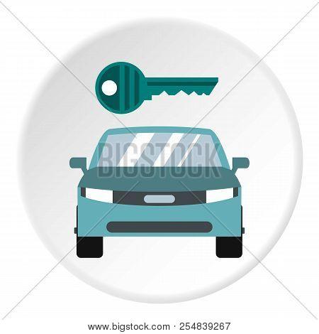 Car from impound yard icon. Flat illustration of car from impound yard icon for web stock photo