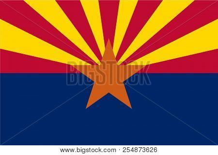 Vector flag of Arizona state, United States of America. stock photo