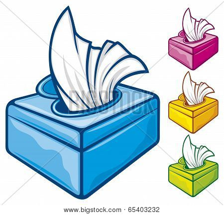 tissue boxes vector illustration, box of tissues stock photo