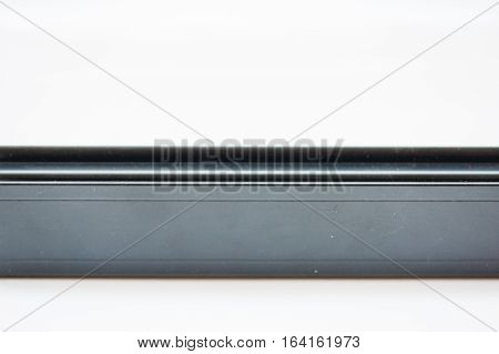 anodized aluminum profile used for a windows and doors locking system stock photo