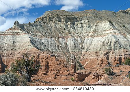 Spectacular Colors in a Southwestern Canyon in Kodachrome Basin State Park in Utah stock photo