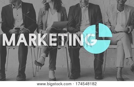 Business Marketing Planning Trategy Graph stock photo