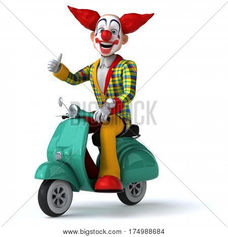 Fun clown - 3D Illustration stock photo