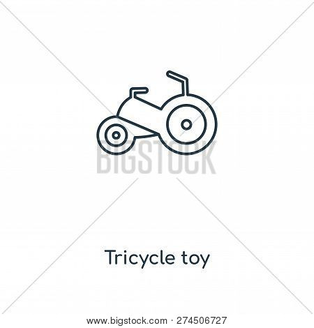 tricycle toy icon in trendy design style. tricycle toy icon isolated on white background. tricycle toy vector icon simple and modern flat symbol for web site, mobile, logo, app, UI. tricycle toy icon vector illustration, EPS10. stock photo