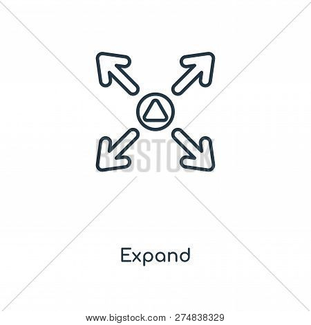 expand icon in trendy design style. expand icon isolated on white background. expand vector icon simple and modern flat symbol for web site, mobile, logo, app, UI. expand icon vector illustration, EPS10. stock photo