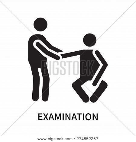Examination icon isolated on white background. Examination icon simple sign. Examination icon trendy and modern symbol for graphic and web design. Examination icon flat vector illustration for logo, web, app, UI. stock photo
