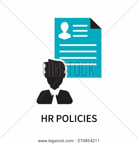 HR Policies icon isolated on white background. HR Policies icon simple sign. HR Policies icon trendy and modern symbol for graphic and web design. HR Policies icon flat vector illustration for logo, web, app, UI. stock photo