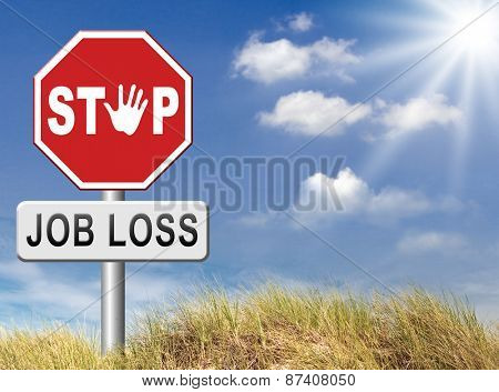 job loss and unemployment getting fired employment rate Layoff and Downsizing stock photo