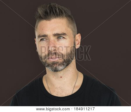 Men Adult Spiky Hair Candid stock photo