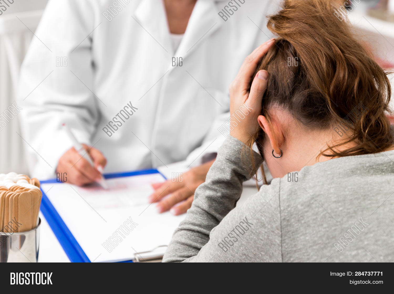 afflictions,anamnesis,background,bipolar,burnout,certificate,clinic,collapse,concept,consultation,depression,depressive,doctor,female,germany,headache,health,healthcare,help,hospital,medical,medicine,mental,migraine,note,office,pain,painfull,patient,person,prescription,psychiatrist,pysical,shrink,sick,stress,surgery,white,woman