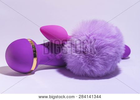 Vibrator for sex games. Toys for adults.Pink Vaginal exercise machines for intimate.Toys only for adult,massagers , vibrators for sex games. stock photo