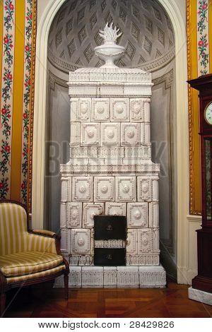 Antique European house - Palace interiors stock photo