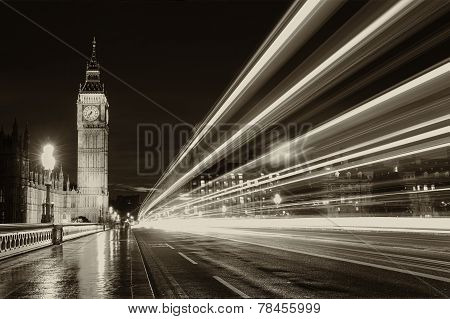 Monochrome big ben london