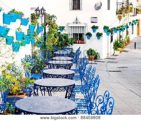 Picturesque road of Mijas town