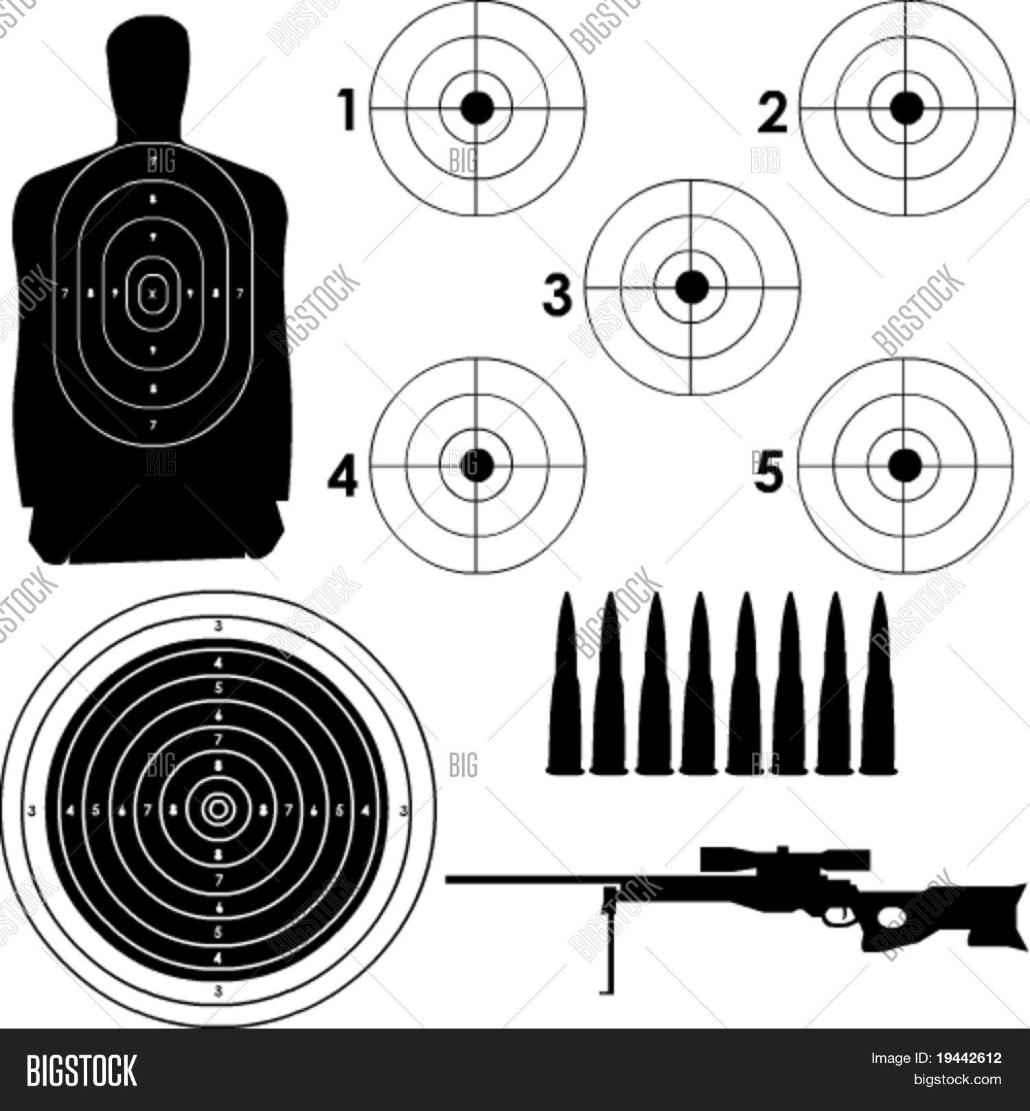 picture regarding Printable Sniper Targets titled 🔥 Alternate plans in just vector layout with sniper rifle and