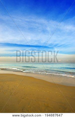 Karon beach Phuket Thailand Exotic paradise of Thailand beach Asia. Peaceful ocean wave at beach.-Lg Fridge Magnet Skin (size 36x65)