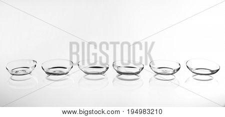 Contact lenses on white background stock photo