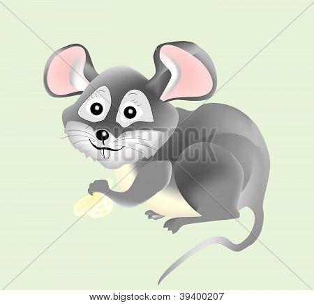 Vector little mouse