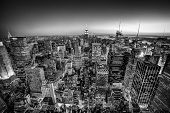 New York City Manhattan downtown horizon.