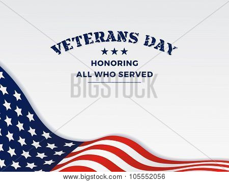 Veterans Day And White Background