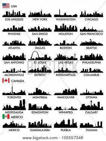 City skyline North America