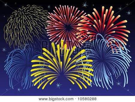 Firework vector illustration.