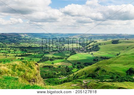 Mam Tor hill near Castleton and Edale in the Peak District National Park England UK stock photo