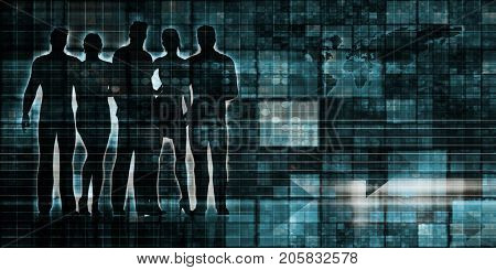 Data Processing as System and Business Informatics stock photo