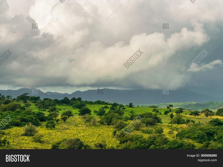Rainforest Jungle Nature Landscape. Storm In Jungle Nature. Jungle View. Nature. Storm In Nature. Na