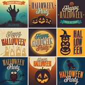 Halloween Posters set. Vector representation.