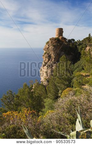 Lookout tower Torre des Verger Mallorca Baleares Spain stock photo