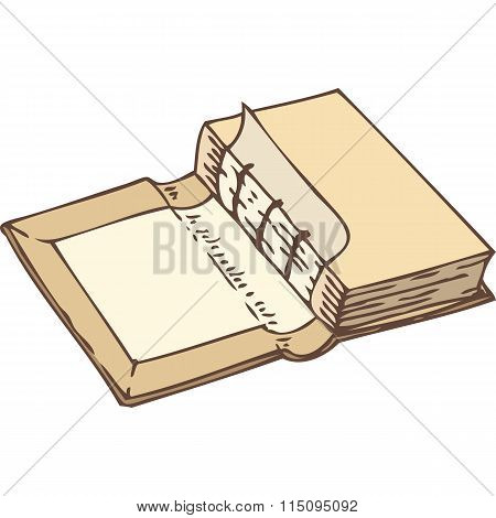 Binding a Book. Isolated on White Background stock photo