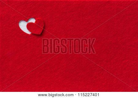 Felt Background for design to Valentine\'s Day