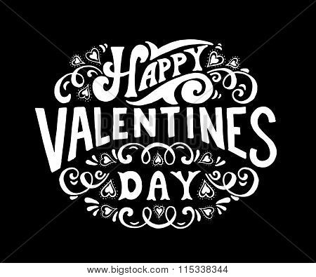 Hand Sketched Happy Valentine\'s Day Text. Valentine\'s Day Typography.