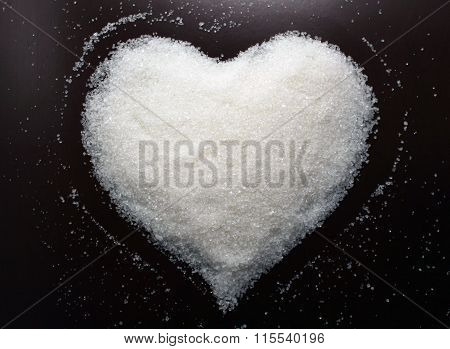 Beautiful Sugar heart. Valentines day cards.