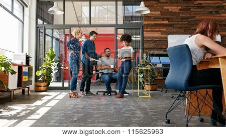Group Of Creative People Having A Meeting