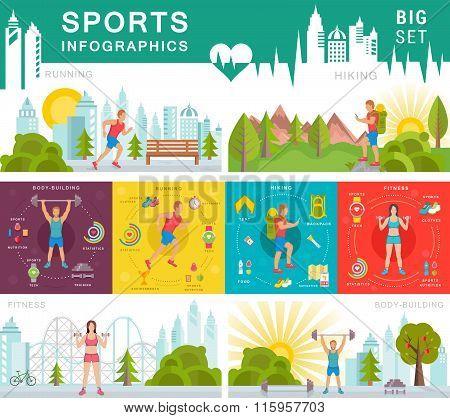 Vector Set Sport Infographic