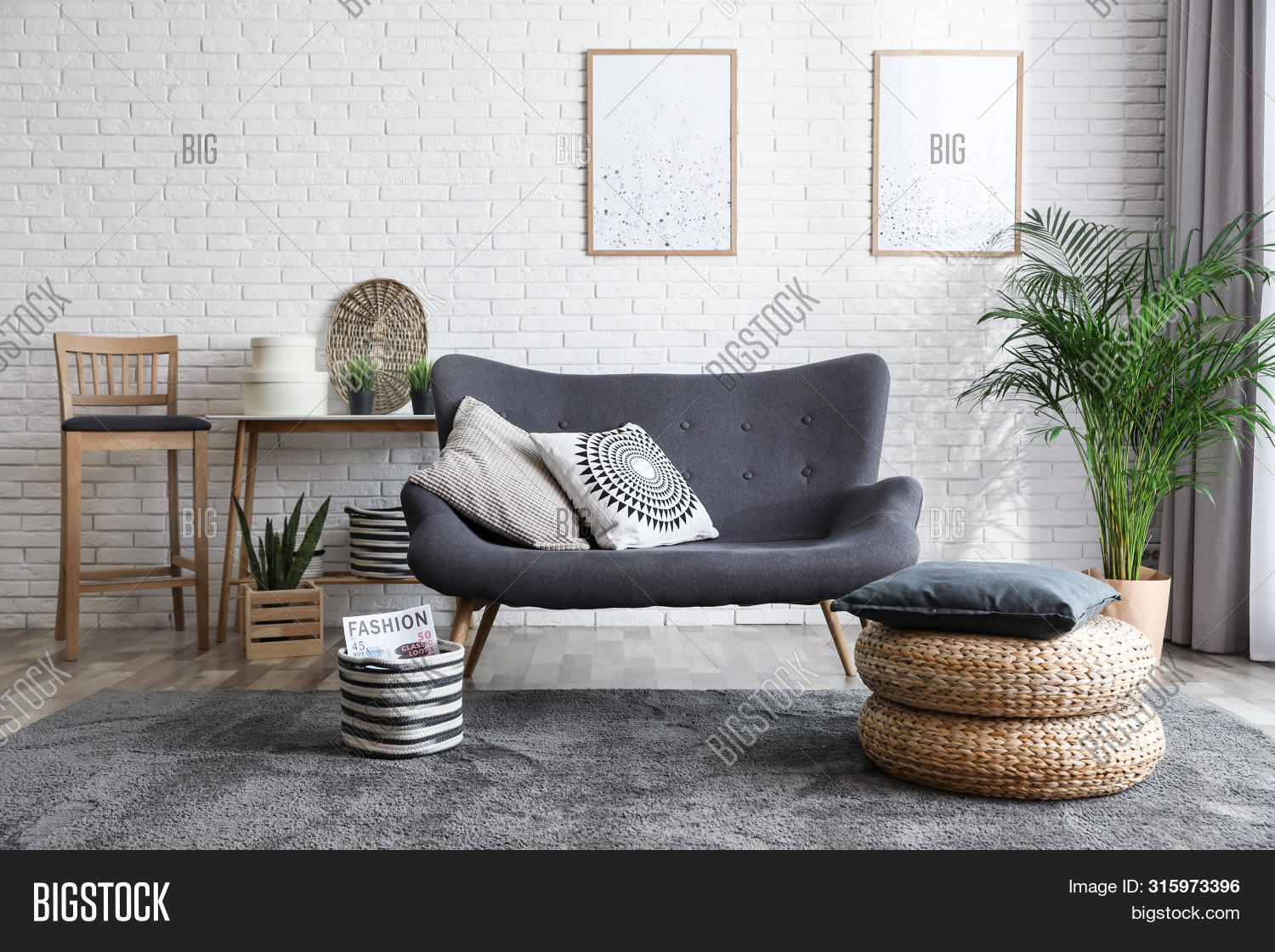 apartment,background,brick,bright,color,comfortable,contemporary,couch,coziness,cozy,decor,decoration,decorative,design,detail,elegant,elements,flat,floor,furniture,home,house,houseplant,idea,indoors,interior,large,lifestyle,living,luxury,modern,nobody,picture,pillow,plant,posters,room,rug,seat,sit,sofa,spacious,style,stylish,table,wall,white,window