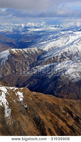 The Crown Range Of Mountains In Otago, New Zealand-Lg Fridge Magnet Skin (size 36x65)