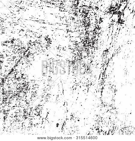 Distress urban used texture. Grunge rough dirty background. Brushed black paint cover. Overlay aged grainy messy template. Renovate wall scratched backdrop. Empty aging design element. EPS10 vector stock photo
