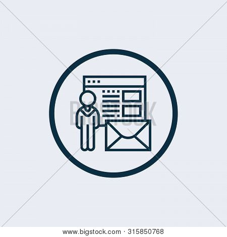 recruiter icon isolated on white background from recruitment collection. recruiter icon trendy and modern recruiter symbol for logo, web, app stock photo
