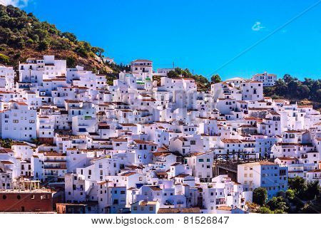 Casares , white town in Andalusian Mountains, Spain