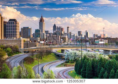 Atlanta, Georgia, USA downtown skyline.