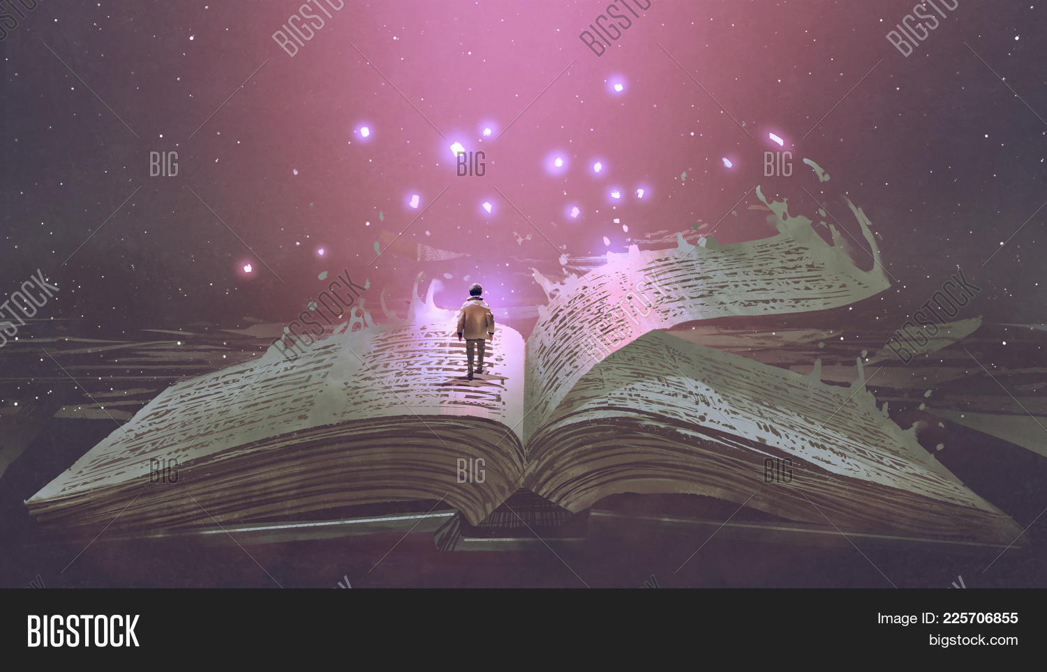 acrylic,art,artistic,artwork,big,book,boy,childhood,fantasy,giant,illustration,imagination,kid,knowledge,light,old,open,painting,papers,pink,read,school,story,surreal