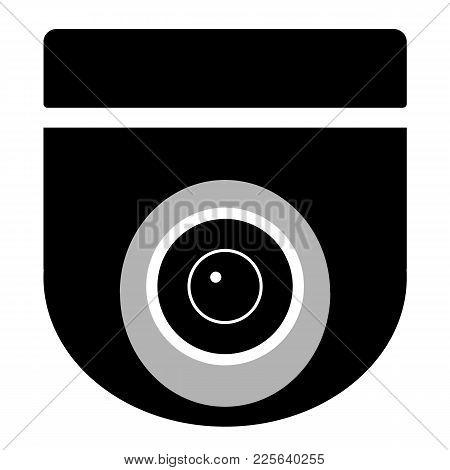 cctv camera on white background. cctv sign. security camera icon. video surveillance. black icon surveillance camera symbol. stock photo