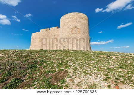 Castle Chateau d'If, near Marseille France. On sunny warm day in Provence. The castle where the Count of Monte Cristo was imprisoned on the Frioul Islands. stock photo