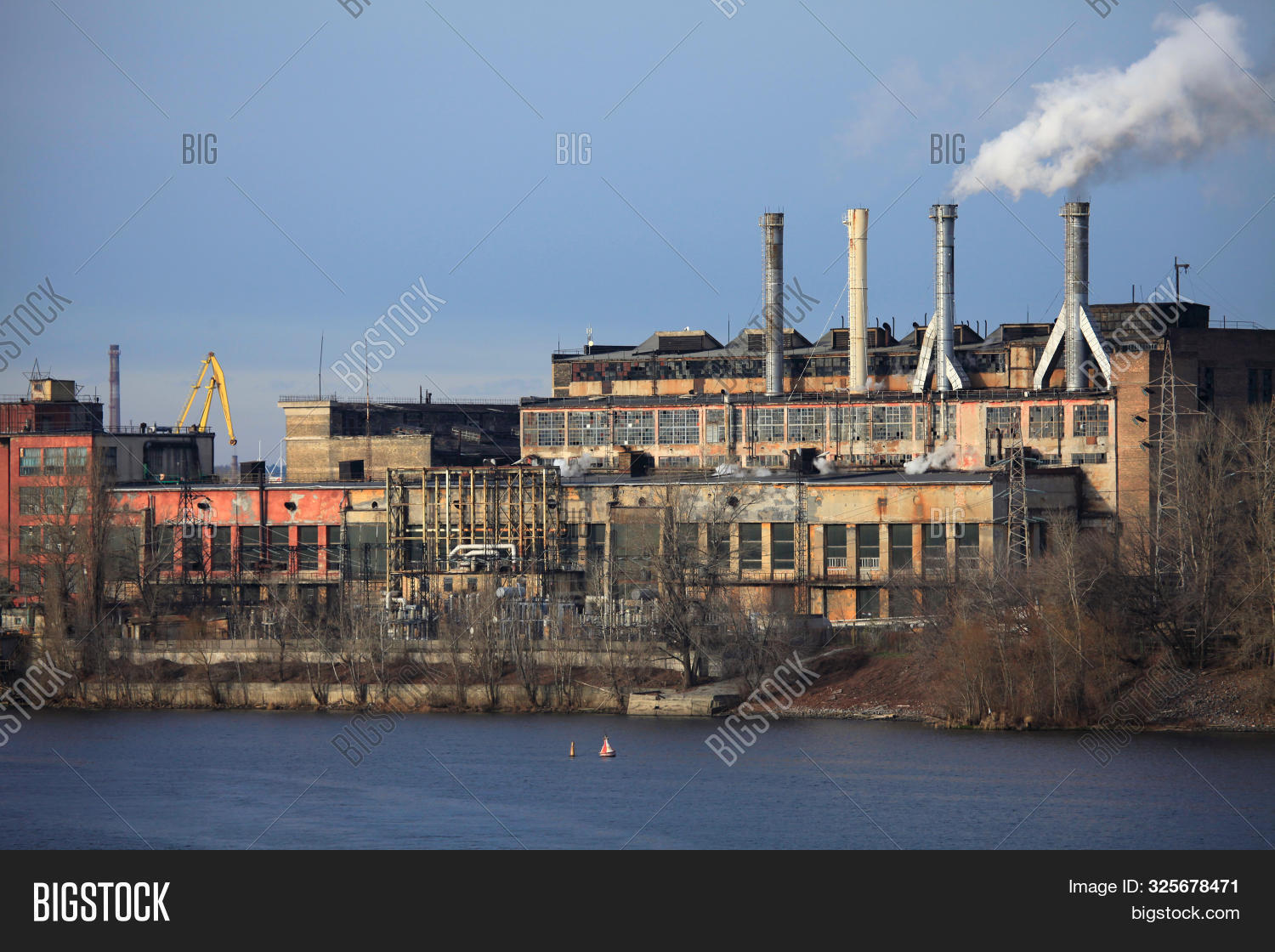 Heating Season. Rise In Prices. Thermal Station In Kiev. One Of The First Thermal Power Plant In Ukr