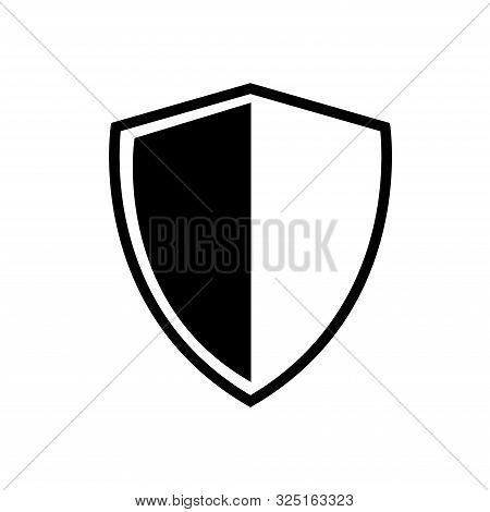 shield - protection icon vector design template stock photo