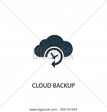 Cloud Backup icon. Simple element illustration. Cloud Backup concept symbol design. Can be used for web stock photo